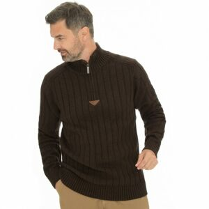 Bushman svetr Camerun dark brown XL